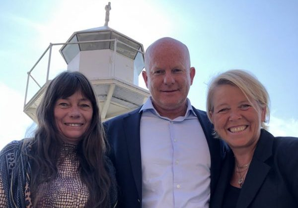 From left; new chairman in AISPOT Ingvild Myhre, and founder and CEO Harald Jellum and responsible for AISPOT in the Norwegian market, Inger Anne Vik